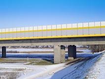 Passerelle de l'autoroute A1 à travers la rivière la Vistule Photos libres de droits
