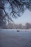 Passerelle de l'hiver photo stock