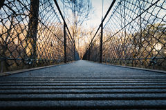 Passerelle de la suspension Bridge Image stock