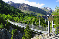 Passerelle de la suspension Bridge switzerland Photo stock