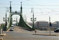 Passerelle de liberté à Budapest Photo libre de droits