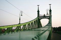 Passerelle de liberté, Budapest Photos libres de droits