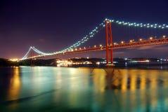 Passerelle de Lisbonne Image libre de droits