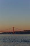Passerelle de Lisbonne Photographie stock libre de droits
