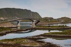 Passerelle de Lofoten Photographie stock libre de droits