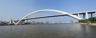 Passerelle de lupu de Changhaï Photographie stock libre de droits