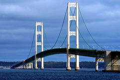 Passerelle de Mackinac images stock