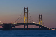 Passerelle de Mackinac, ville Michigan de Mackinaw Photographie stock libre de droits