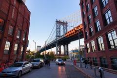 Passerelle de Manhattan à New York City Photographie stock