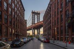 Passerelle de Manhattan à New York City Photographie stock libre de droits