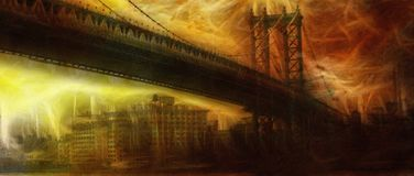 Passerelle de Manhattan illustration stock