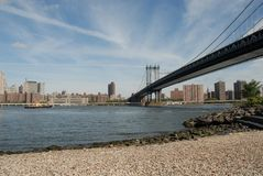 Passerelle de Manhattan Photos stock