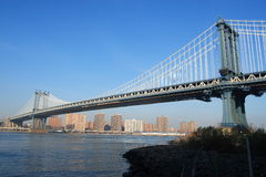 Passerelle de Manhattan Photos libres de droits