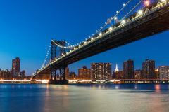 Passerelle de Manhattan Photographie stock
