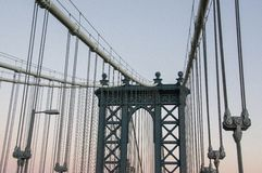 Passerelle de Manhattan Images libres de droits