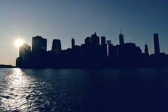 Passerelle de Manhattan et de Brooklyn Photos stock