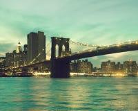 Passerelle de Manhattan et de Brooklyn photo libre de droits