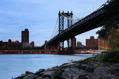 Passerelle de Manhattan, New York City Images libres de droits