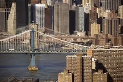 Passerelle de Manhattan, NYC photo stock