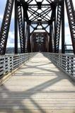 Passerelle de marche à Fredericton Photographie stock