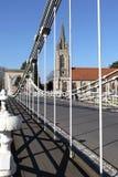 Passerelle de Marlow en Angleterre images libres de droits