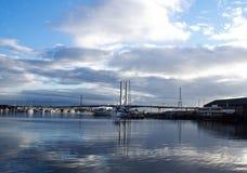 Passerelle de Melbourne près de quartier des docks Images libres de droits