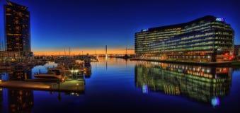 Passerelle de Melbourne Webb photo libre de droits
