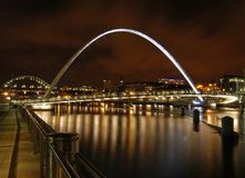 Passerelle de millénium de Gateshead Photos stock