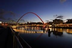 Passerelle de millénium de Gateshead Images libres de droits