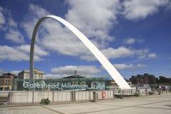 Passerelle de millénium de Gateshead photos libres de droits
