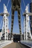 Passerelle de millénium - Manchester - Angleterre Photo libre de droits