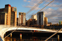 Passerelle de millénium, Newcastle Images stock