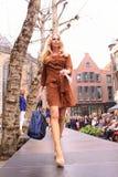 Passerelle de mode d'été Images libres de droits