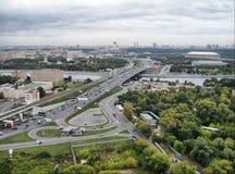 Passerelle de Moscou Image libre de droits
