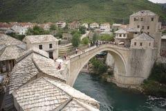 Passerelle de Mostar Photo libre de droits