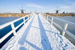 Passerelle de neige Images libres de droits