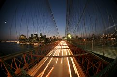 Passerelle de New York, Brooklyn Images libres de droits