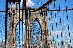 Passerelle de New York Brooklyn Photos libres de droits