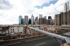 Passerelle de New York City Brooklyn Image libre de droits