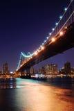 Passerelle de New York City Manhattan Images libres de droits