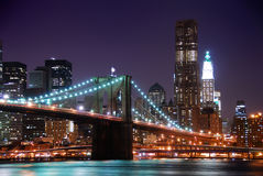 Passerelle de New York City Manhattan Brooklyn Image libre de droits