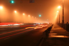 Passerelle de nuit images libres de droits