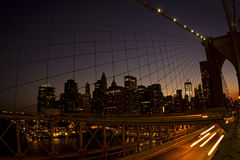 Passerelle de NYC Brooklyn Photos libres de droits