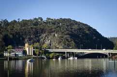 Passerelle de Paterson, Launceston, Tasmanie Images libres de droits