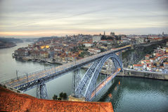 Passerelle de Ponte Luis I, Porto Images libres de droits