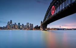 Passerelle de port de Sydney Photos stock