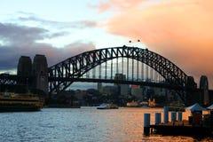 Passerelle de port de Sydney, Australie Images libres de droits