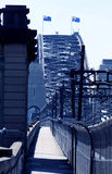 Passerelle de port de Sydney Cycleway Photos libres de droits