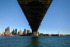 Passerelle de port de Sydney et CBD Photos libres de droits