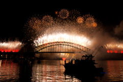 Passerelle de port de Sydney NYE Photo stock